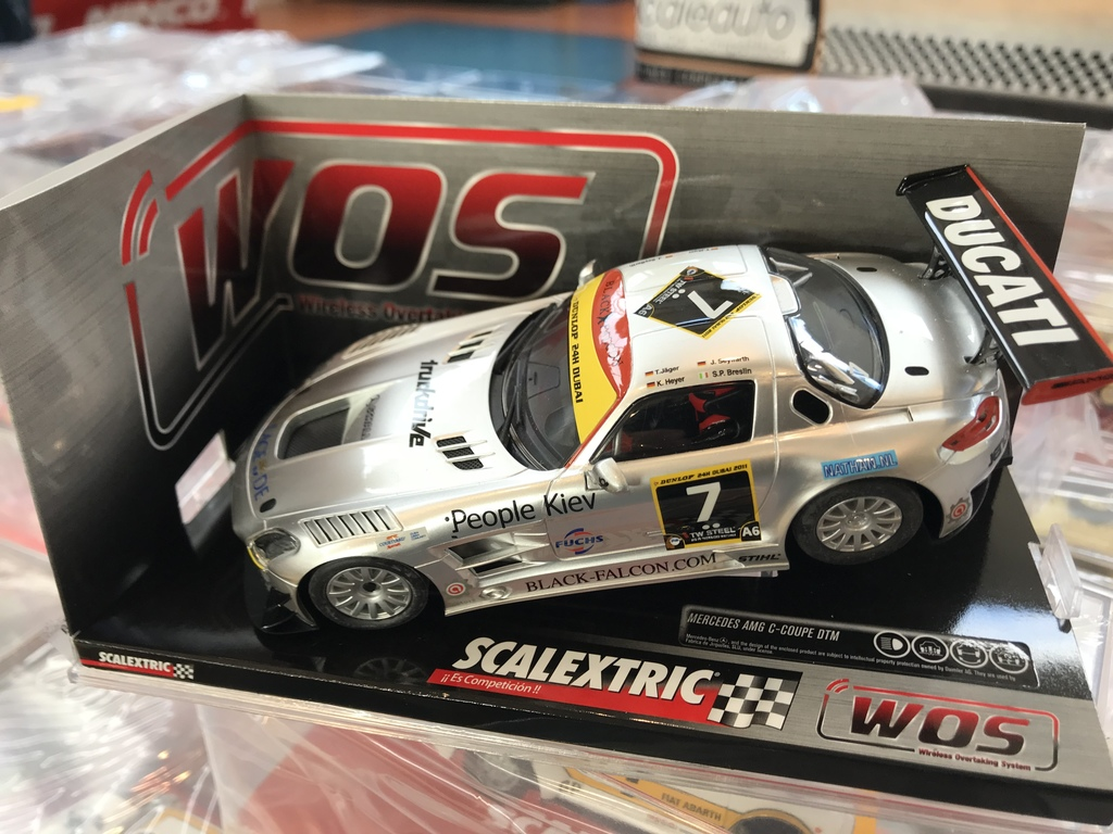 "exclusivo mercedes sls scalextric wos ""gris 7"""