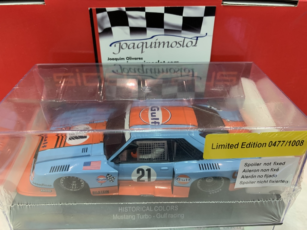 sideways ford mustang turbo gulf livery limited edition #21