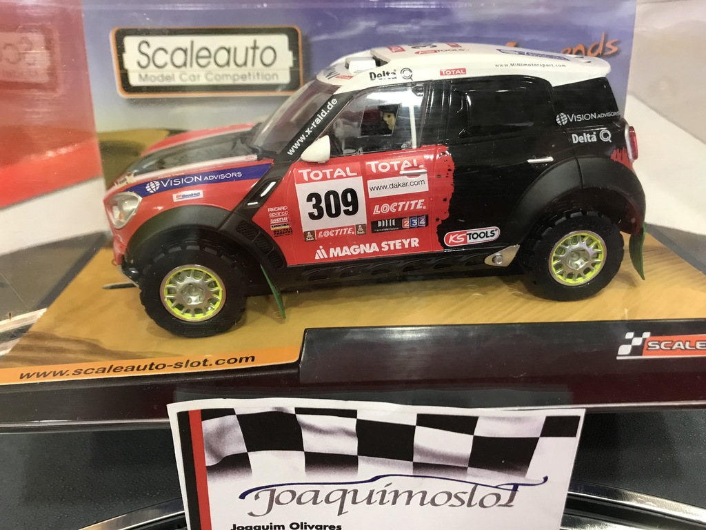 scaleauto mini countryman all 4 racing #309 dakar 2012